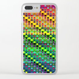 Colorful Patterns Clear iPhone Case