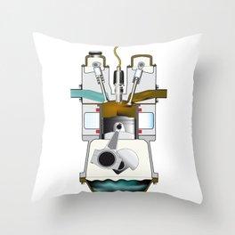 Exhaust Stroke Throw Pillow
