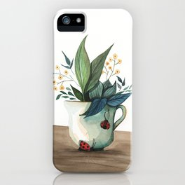 Unexpected Terrarium Ladybug iPhone Case