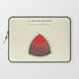 Le Rouge-Orangé (ses diverses nuances combinées avec le noir) Remake Laptop Sleeve