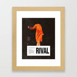 Self Rival Framed Art Print