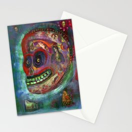 Funky Art Day Of The Dead Sugar Skull Stationery Cards