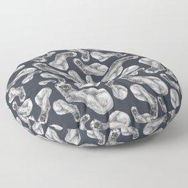 Kolinsky pattern Blue Violet Floor Pillow