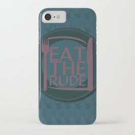 Eat The Rude (Navy) iPhone Case