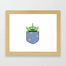 Toy Story Alien Pocket Framed Art Print
