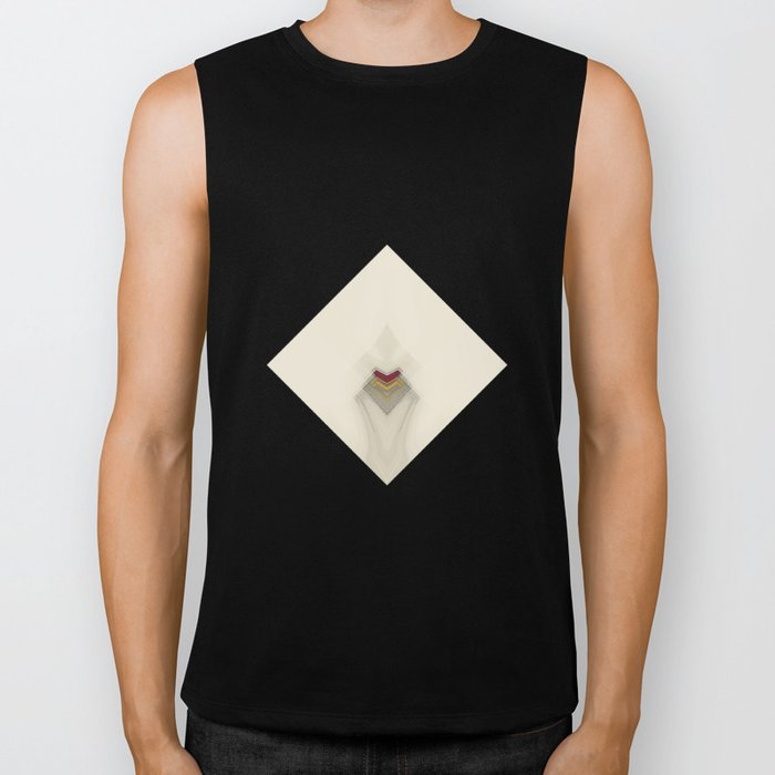Geometric/Abstract RY Biker Tank