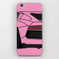 lamborghini iPhone & iPod Skins featuring Lamborghini Aventador by societystar
