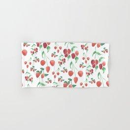 Watercolor Strawberries Hand & Bath Towel