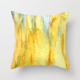 Earth toned abstract Throw Pillow