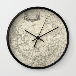 Artic Map / 1780 Wall Clock