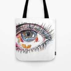 Koi Fish in Eye Tote Bag