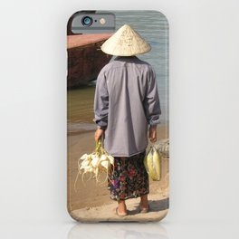 Lao Woman Coming from the Farmer's market iPhone Case
