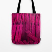 leather Tote Bags featuring Leather pattern by Pepita Selles