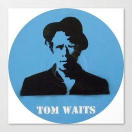 Tom Waits Record Painting Canvas Print