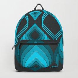 Blue Genie geometric pattern Backpack