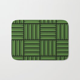 Green metallic pattern Bath Mat