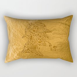 Sherlock - Gold Rectangular Pillow