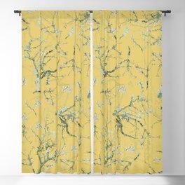 Vintage & Shabby Chic - Original Van Gogh Almond Blossoms, Seamless Pattern yellow  Blackout Curtain