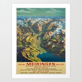 Advertisement brienz meiringen  brienz Art Print
