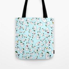 Mustelid xmas pattern #1 Tote Bag