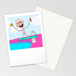 Paul the Diver Stationery Cards