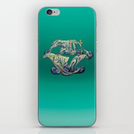 Faux Real - Teal - This is Not Typography iPhone Skin