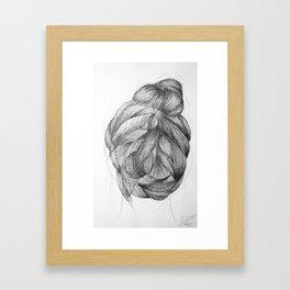 Hair three Framed Art Print