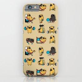 Pug Leg Day iPhone Case
