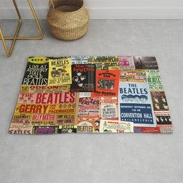 Vintage Rock Concert Posters Rug