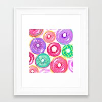 donuts Framed Art Prints featuring Donuts by Sara Berrenson