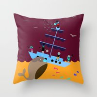 panic at the disco Throw Pillows featuring Panic by Eipkkuk