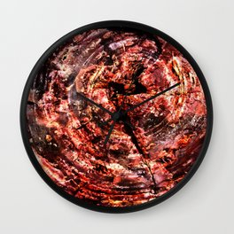Petrified Tree Rings Wall Clock