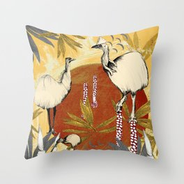 The fantastical world of the cassowary Throw Pillow