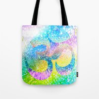 ohm Tote Bags featuring ohm sparkle by haroulita