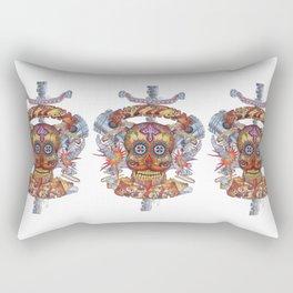 Mutant Day of the Dead Skull Rectangular Pillow