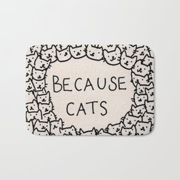 Because cats Bath Mat