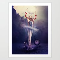 evolution Art Prints featuring Evolution by Kryseis Retouche