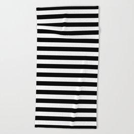 Stripe Black And White Vertical Line Bold Minimalism Stripes Lines Beach Towel
