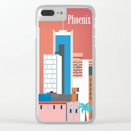 Phoenix, Arizona - Skyline Illustration by Loose Petals Clear iPhone Case