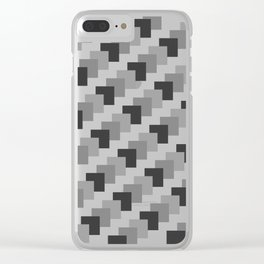 Retro Black and White Clear iPhone Case