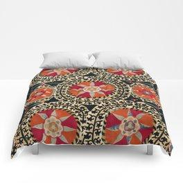 Katti Kurgan Suzani Uzbekistan Embroidery Print Comforters