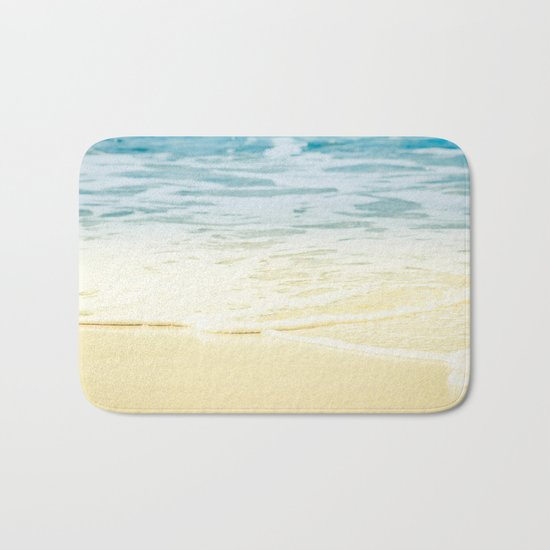 Kapalua Beach dream colours sparkling golden sand seafoam Maui Hawaii Bath Mat