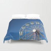 ferris wheel Duvet Covers featuring Ferris Wheel by Jessica Lindstrom