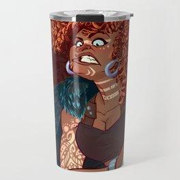Red Head Warrior Travel Mug