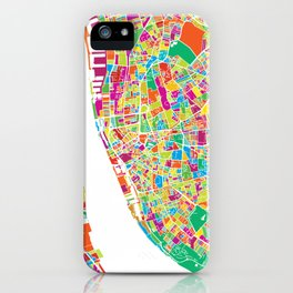 Liverpool Colorful Map iPhone Case