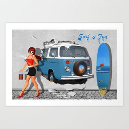 Back to the 60s Art Print