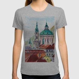 Prague Czech Republic watercolor T-shirt