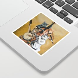 Cat Quartet Sticker