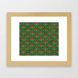 Spring Roses Pattern Framed Art Print