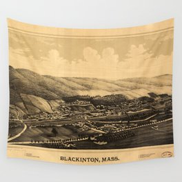 Aerial View of Blackinton, Massachusetts (1889) Wall Tapestry